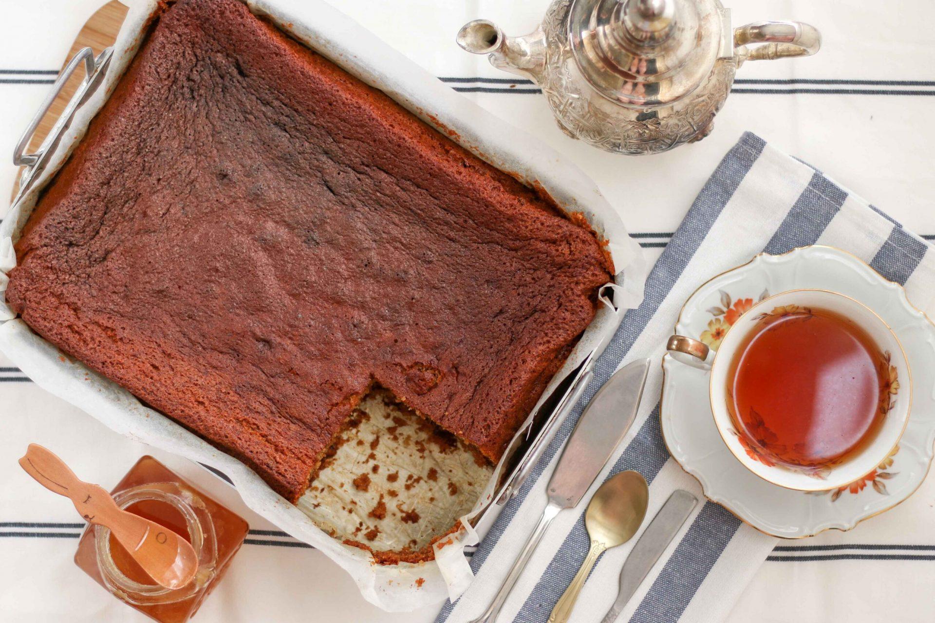 עוגת דבש עסיסית