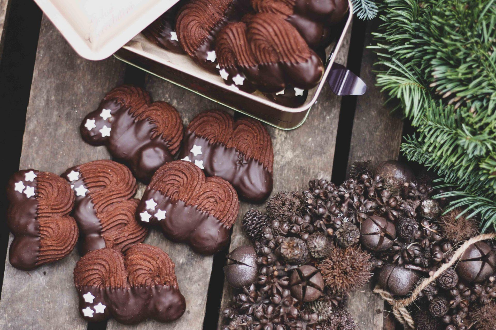 עוגיות שפריץ קקאו שוקולד