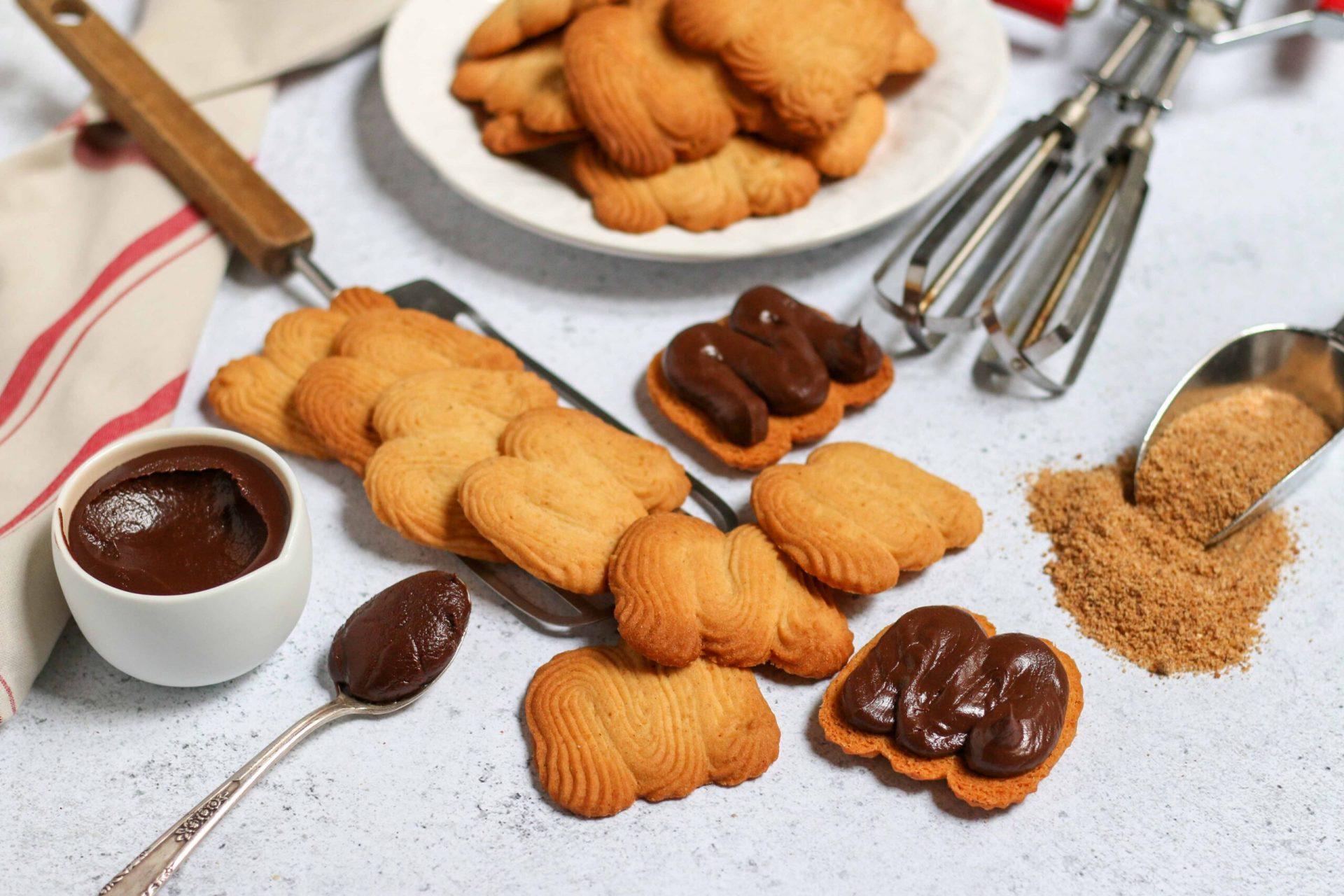 עוגיות שפריץ פרלינה שוקולד