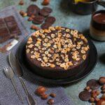 עוגת שוקולד, שמן זית ואגוזי לוז