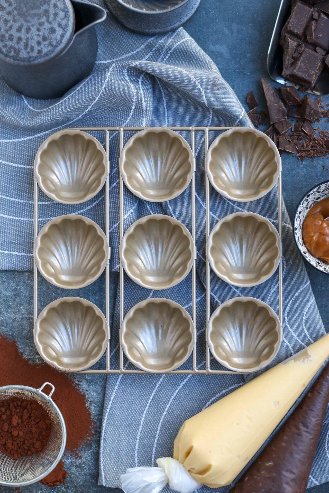 מדלן שיש שוקולד וקרמל