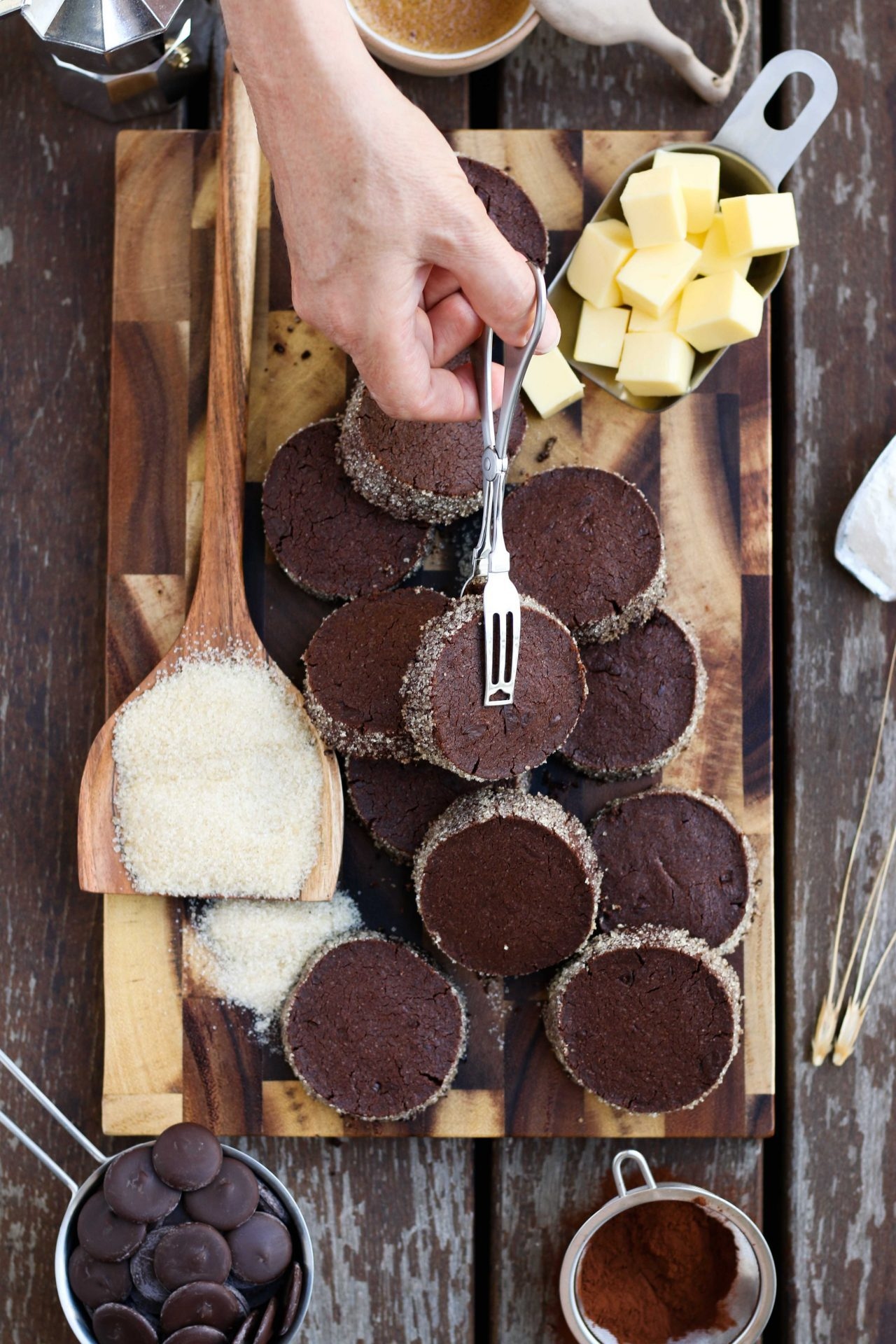 Chocolate Diamond Cookies